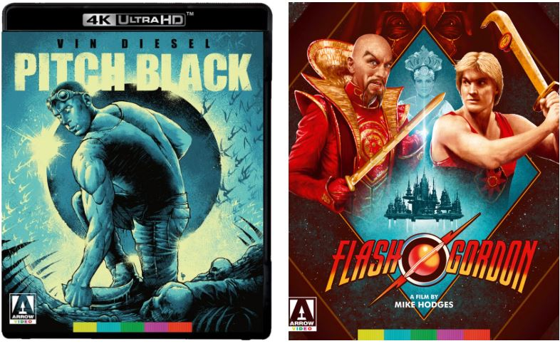 Pitch Black and Flash Gordon 4K UHD from Arrow Video